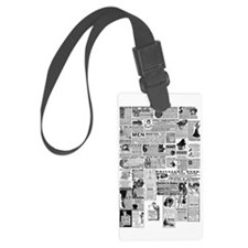 Old Vintage Newspaper Ads Luggage Tag