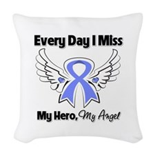 Esophageal Cancer Miss Hero Woven Throw Pillow