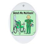 Nurse Multitask Oval Ornament
