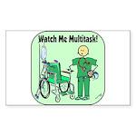 Nurse Multitask Rectangle Sticker