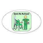 Nurse Multitask Oval Sticker