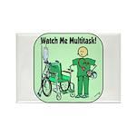 Nurse Multitask Rectangle Magnet