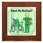 Nurse Multitask Framed Tile
