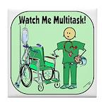 Nurse Multitask Tile Coaster