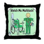 Nurse Multitask Throw Pillow
