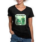 Nurse Multitask Women's V-Neck Dark T-Shirt