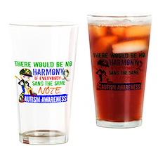 No Harmony 1.2 Autism (Boy) Drinking Glass