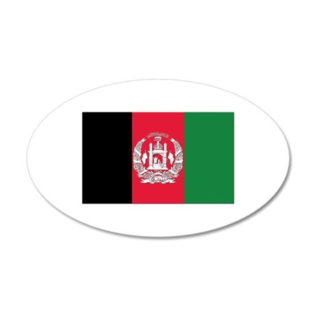 Flag of Afghanistan 20x12 Oval Wall Decal