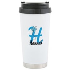 Personalized Initial H Monogram Travel Mug