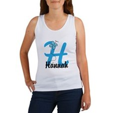 Personalized Initial H Monogram Women's Tank Top