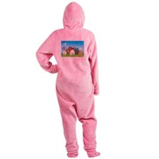 Easter Eggs Footed Pajamas
