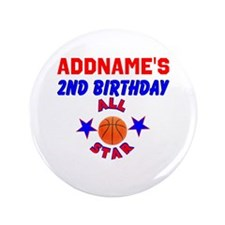 """2 YR OLD SPORTS 3.5"""" Button (100 pack)"""