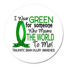 Means World to Me 1 TBI Round Car Magnet