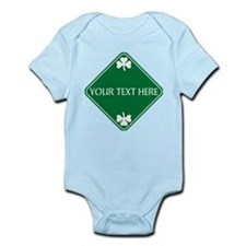 St Patricks Day Border CUSTOM TEXT Infant Bodysuit