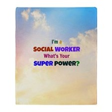 I'm a Social Worker. What's Your Sup Throw Blanket