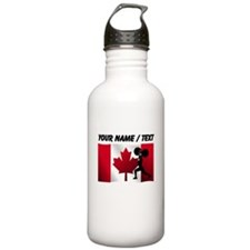 Custom Weightlifting Canadian Flag Sports Water Bo