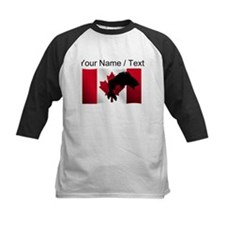 Custom Fishing Canadian Flag Baseball Jersey