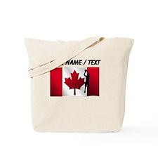 Custom Basketball Jump Shot Canadian Flag Tote Bag