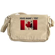 Custom Basketball Dunk Canadian Flag Messenger Bag