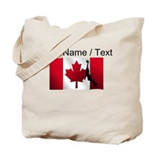 Custom Basketball Dunk Canadian Flag Tote Bag