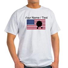 Custom Table Tennis American Flag T-Shirt