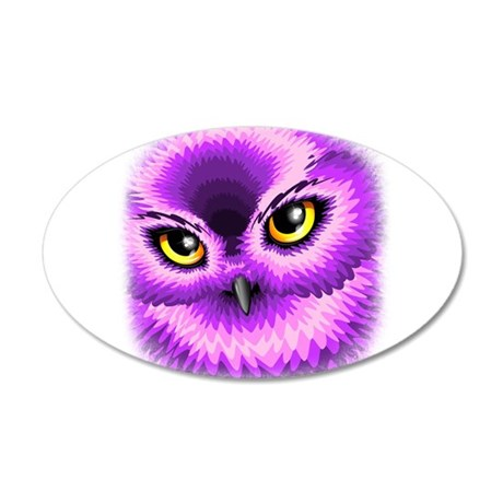 Pink Owl Eyes Wall Decal