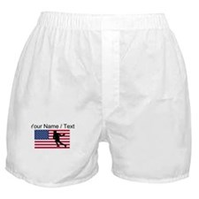 Custom Lacrosse American Flag Boxer Shorts