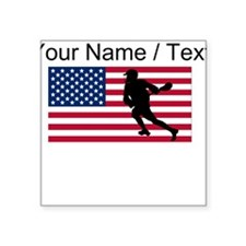 Custom Lacrosse American Flag Sticker