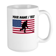 Custom Hockey American Flag Mugs