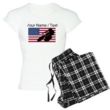 Custom Cycling American Flag pajamas