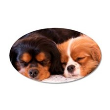Sleeping Buddies Cavalier King Charles Spaniels Wall Decal