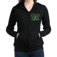 Butterfly Love Endometriosis Zip Hoodie