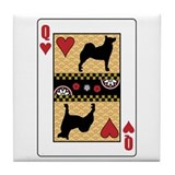 Queen Buhund Tile Coaster