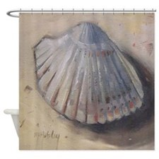 Seashell Cockle Shell Beach Shower Curtain