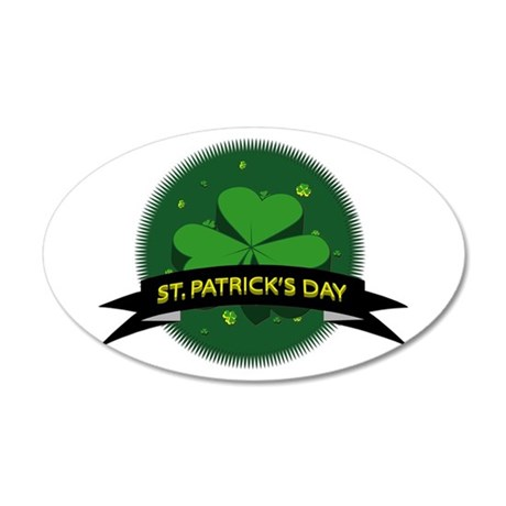 St. Patrick's Day 20x12 Oval Wall Decal