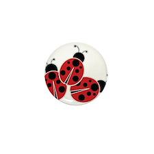 Trio of Ladybugs Mini Button (10 pack)