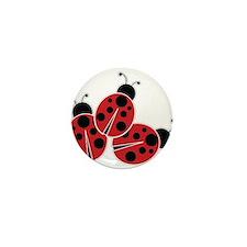 Trio of Ladybugs Mini Button