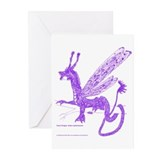 Purple Fairy Dragon Greeting Cards (Pk of 10)