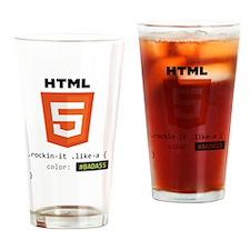 #BADA55 Drinking Glass