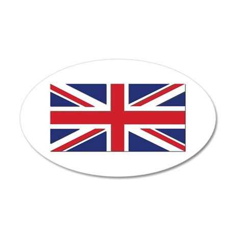 Flag of the United Kingdom 20x12 Oval Wall Decal