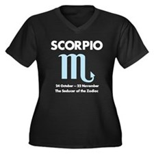 Unique Horoscope Women's Plus Size V-Neck Dark T-Shirt