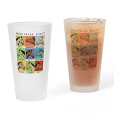 Horse Color Chart Drinking Glass