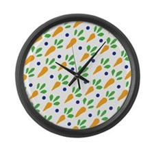 Carrot Calico Large Wall Clock