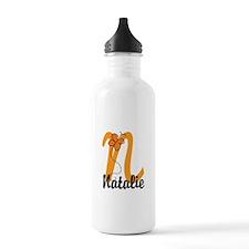Custom N Monogram Water Bottle