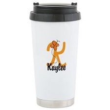 Custom K Monogram Travel Mug