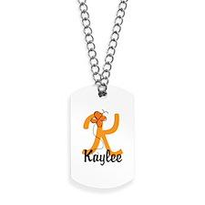 Custom K Monogram Dog Tags
