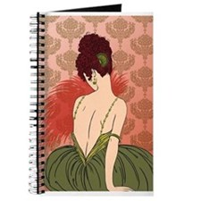 Art Deco Lady with Damask - BIANCA: Antique Autumn