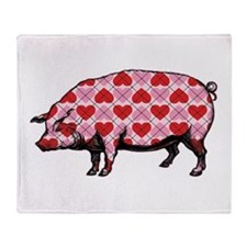 Pig of My Heart Throw Blanket