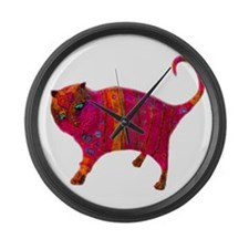 The Pink Tiger Kitty Large Wall Clock