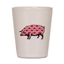 Pig of My Heart Shot Glass